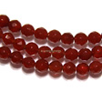CARNELIAN FACET ROUND BEADS 6MM